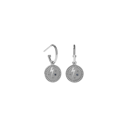 MEADOWLARK AMULET STRENGTH EARRINGS - STERLING SILVER BLUE SAPPHIRE