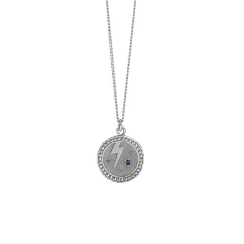 MEADOWLARK STRENGTH NECKLACE - STERLING SILVER BLUE SAPPHIRE