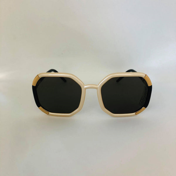 PRADA 0PR 20XS 01F5G1 IVORY W/ DARK BROWN