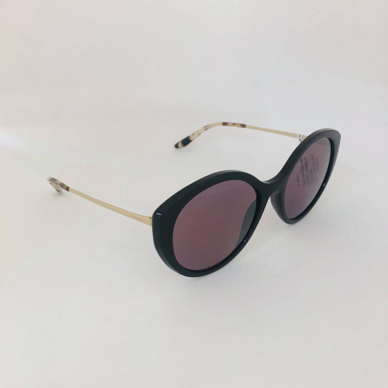 PRADA PR18XS DHO04C BROWN WITH POLARIZED PINK MIRROR