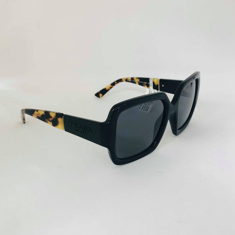 PRADA 21XS 1AB5Z154 SQUARE BLACK W/POLAR GREY