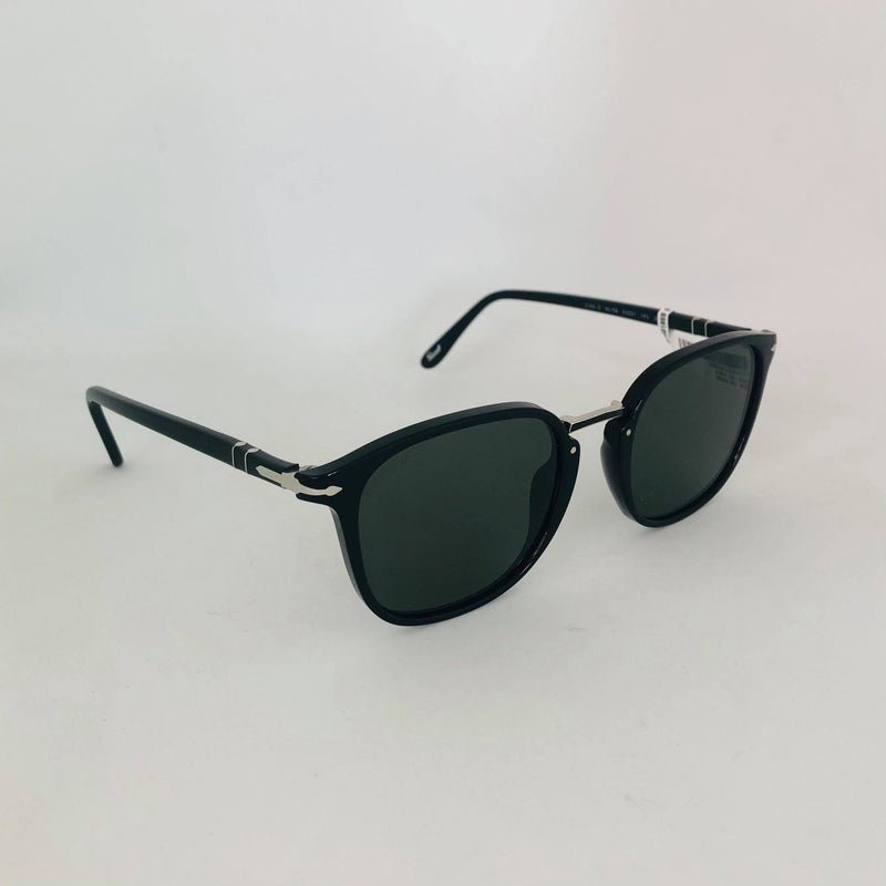 PERSOL 3186S 95/58 53 BLACK WITH POLAR GREEN