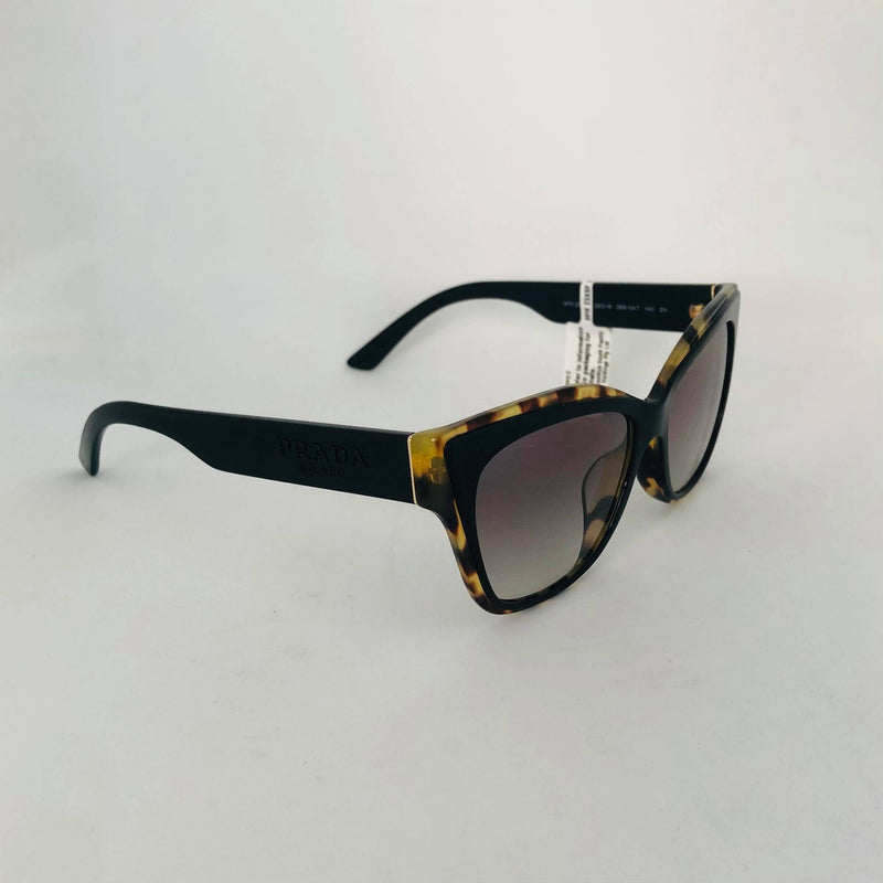 PRADA 23XF 3890A7 BLACK HAVANA MEDIA WITH GREY GRADIENT