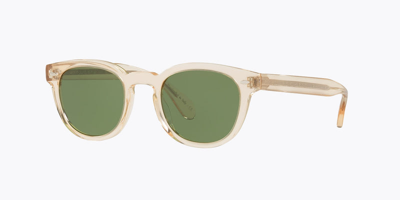 OLIVER PEOPLES | OV5036S 15805249 | SHELDRAKE SUN | BUFF W/ GREEN C LENS