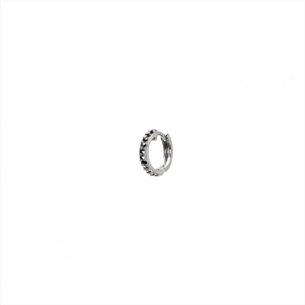 FEIDT | HOOP | 9CT WHITE GOLD W/ GREY SAPPHIRE | CRÉOLE – ANTIK | OR09B