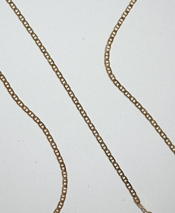 MEADOWLARK | ANCHOR CHAIN NECKLACE | GOLD PLATED | 45CM
