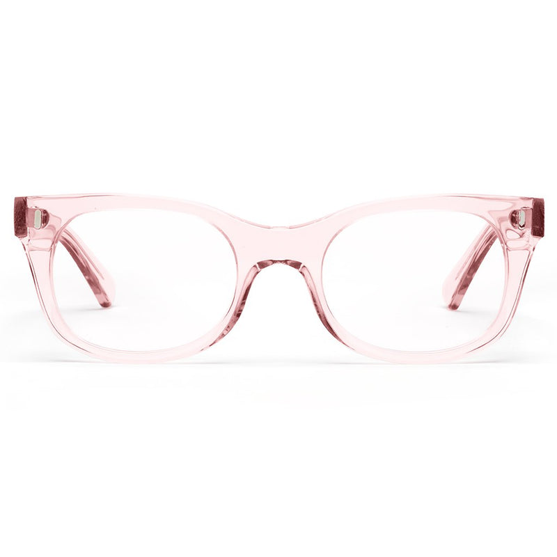 CADDIES BIXBY POLISHED CLEAR PINK 1.5 LENS