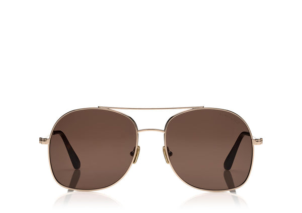 TOM FORD | 758 28E DELILAH 58 | SHINY ROSE GOLD / BROWN CAT 3