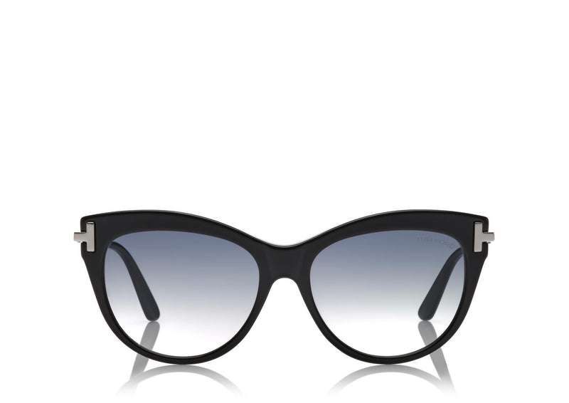 TOM FORD | KIRA TF821 01B 56 | SHINIY BLACK SMOKE