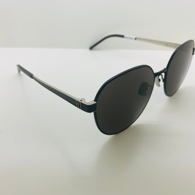 SAINT LAURENT | SL M66 002 | BLACK/SILVER FRAME | GREY LENS