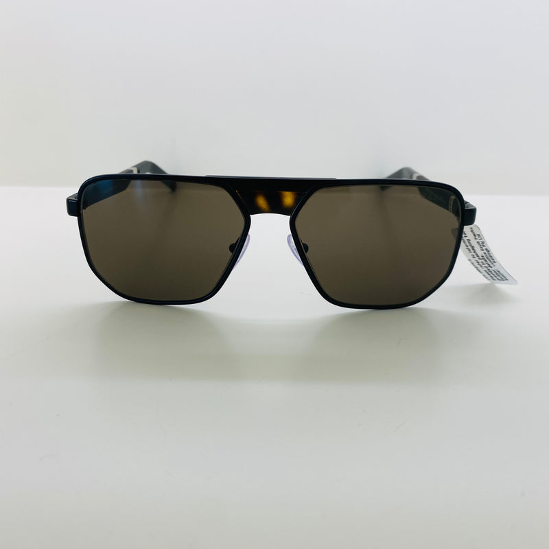 PRADA | 60W 1BO5G1 | MATTE BLACK METAL WITH BROWN 3N
