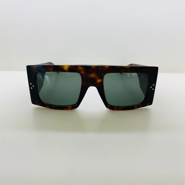 CELINE | CL40105I 52N | HAVANA SQUARE ACETATE | GREEN LENS CAT3