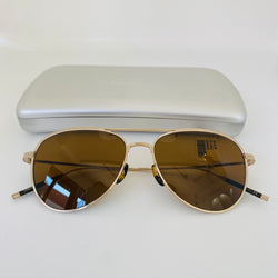 OLIVER PEOPLES OV1267ST 53115353 TK-3 BRUSHED GOLD W/ BROWN TITANIUM 3N