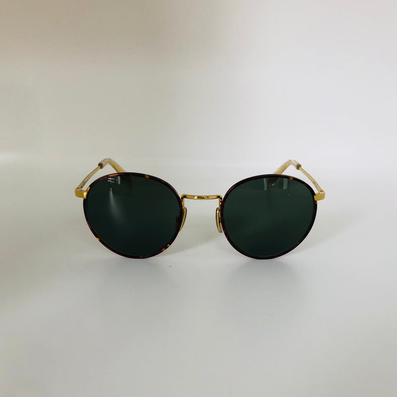 CELINE | CL40100U 34N 50 | GOLD METAL/ HAVANA | GREEN LENS CAT3