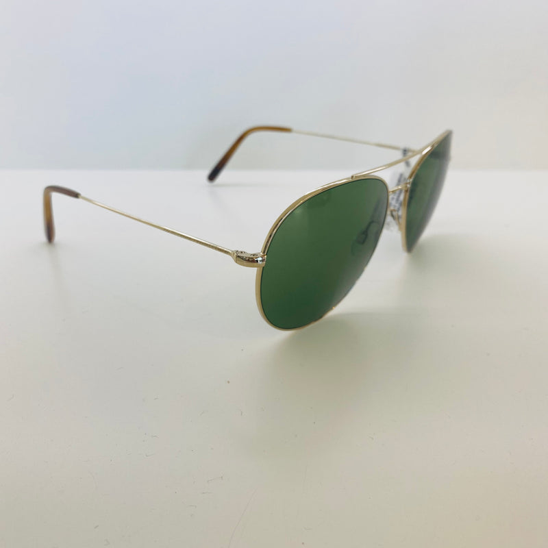 OLIVER PEOPLES | OV1286S 50354E61 | AIRDALE | SOFT GOLD W/ GREEN LENS