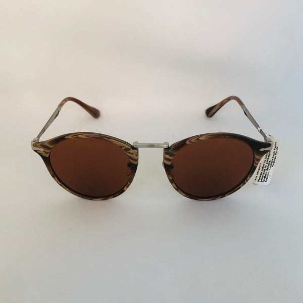 PERSOL 3166S 1113/53 HORN BROWN W/BROWN BLUE