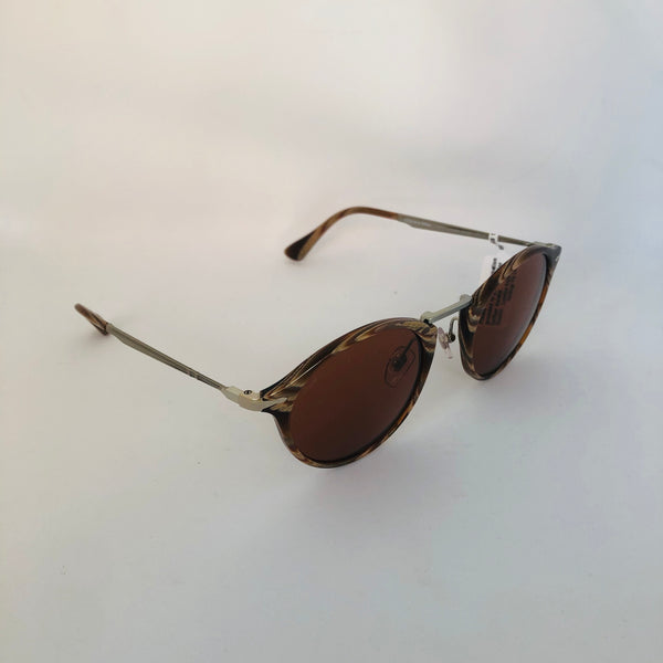 PERSOL PO3166S HORN BROWN W/BROWN BLUE