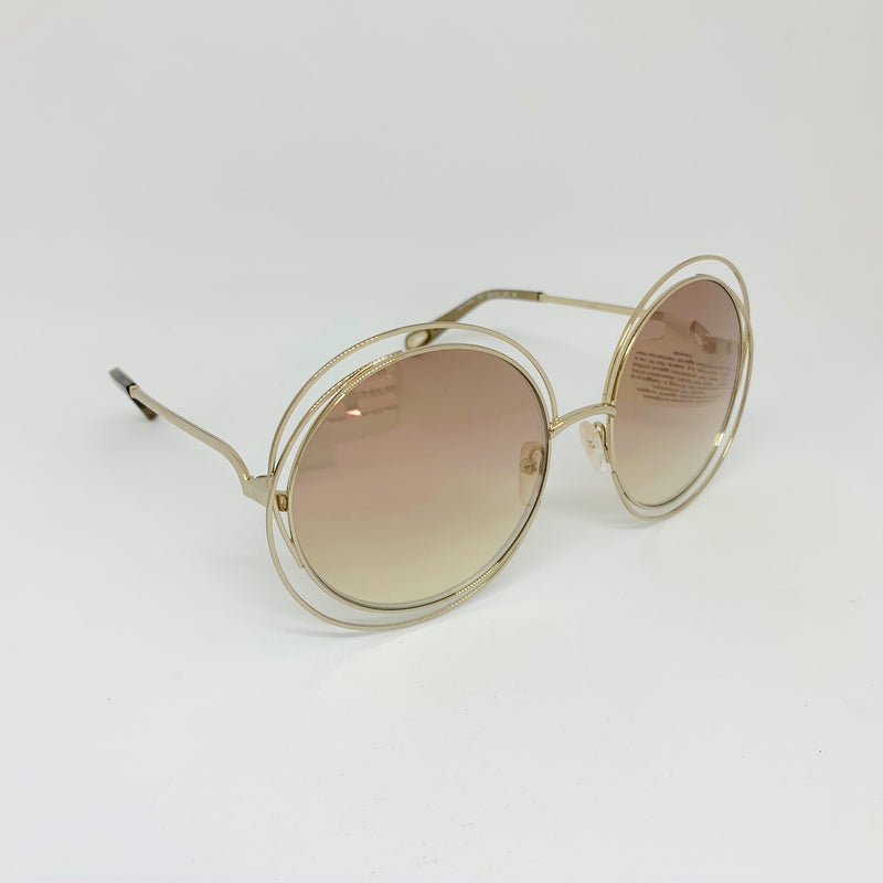 CHLOE | Carlina | CE114SD 777 GOLD/TRANSPARENT MUD