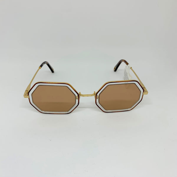 CHLOE | CE146S 253 HAVANA CRYSTAL/BROWN MIRROR