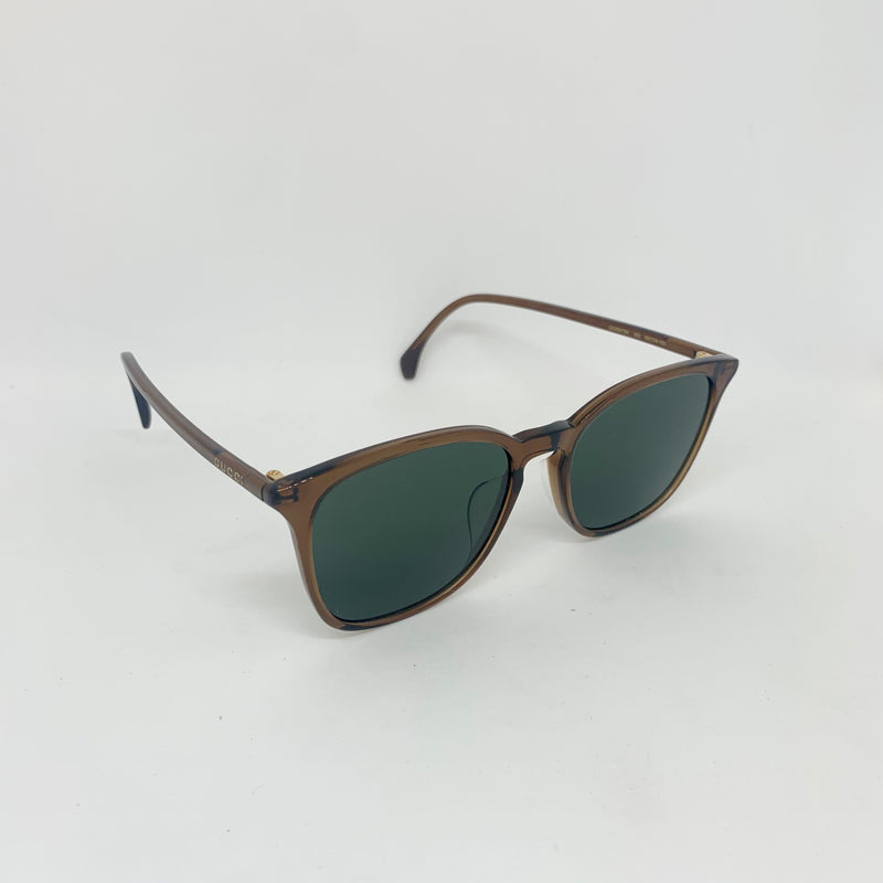 GUCCI GG0547SK 002 BROWN GREEN LENS
