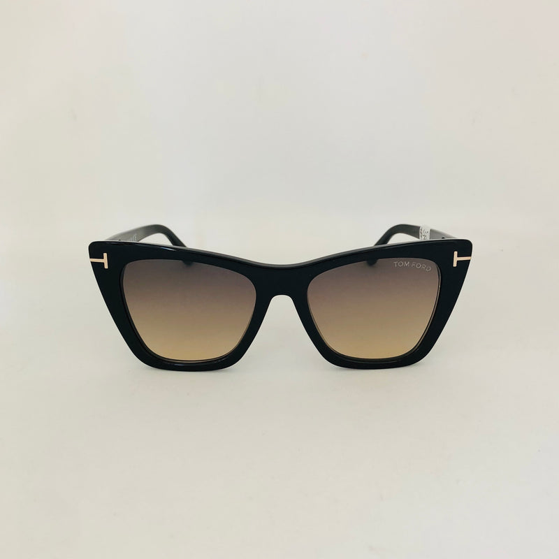TOM FORD TF846-F 01B POPPY 53 BLACK / GRADIENT LENS