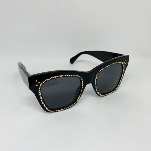 CELINE CL4004IS 01A BLACK WITH CRYSTALS