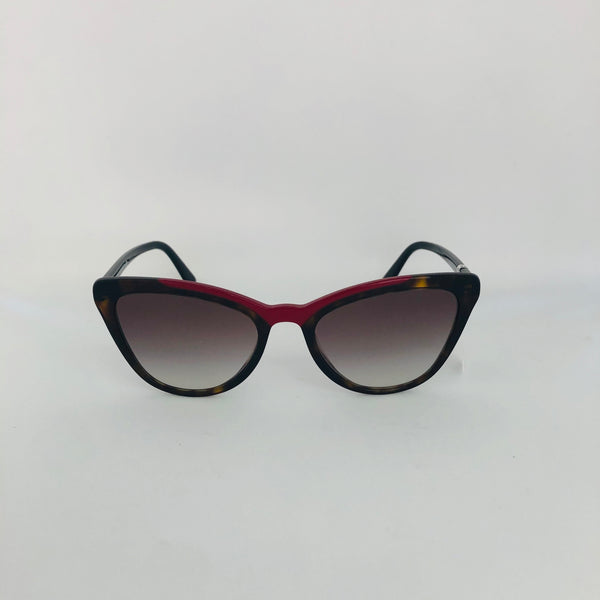 PRADA 0PR 01VS 3200A756 CATWALK HAVANA/RED W/GREY GRADIENT