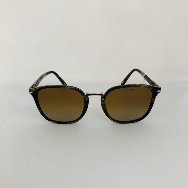 PERSOL PO3186S HORN BROWN W/GREY YELLOW GRADIENT