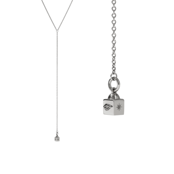MEADOWLARK Lumiere Lariat Necklace Sterling Silver