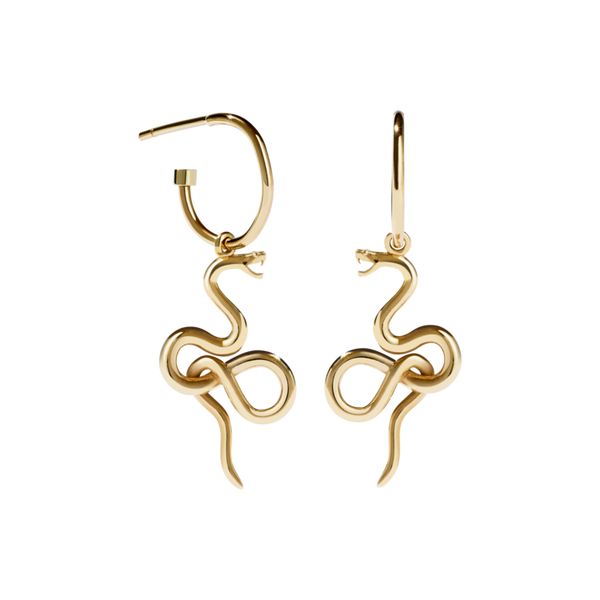 MEADOWLARK | MEDUSA SIGNATURE HOOP EARRING | GOLD PLATED