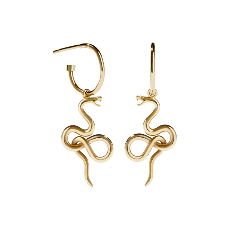 MEADOWLARK Medusa Signature Hoop Earring - Gold Plated