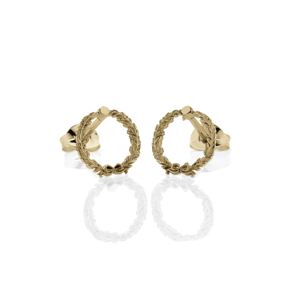 MEADOWLARK | WREATH STUD EARRINGS | GOLD PLATED