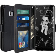 Load image into Gallery viewer, Best Samsung S8 Leather Wallet Case - Free Next Day Delivery