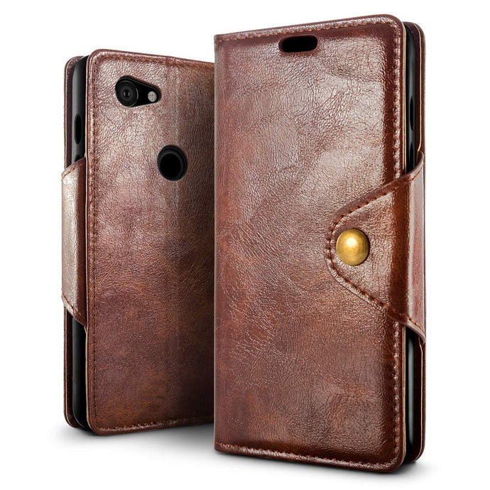 Best Google Pixel 3A XL Retro Leather Case - Free Next Day Delivery