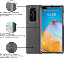 Load image into Gallery viewer, Huawei P40 Case Flip Kickstand