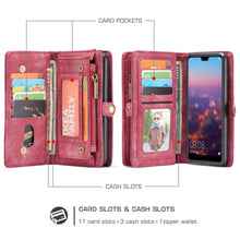 Load image into Gallery viewer, Best Huawei P20 Double Wallet Case - Free Next Day Delivery