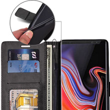 Load image into Gallery viewer, Samsung Note 9 Leather Wallet Case