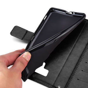 Samsung Note 9 Leather Wallet Case