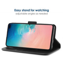 Load image into Gallery viewer, Best Samsung S10 Plus Leather Flip Case - Free Next Day Delivery