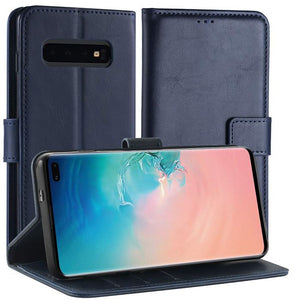 Best Samsung S10 Plus Leather Flip Case - Free Next Day Delivery