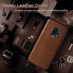 Samsung S9 Retro Leather Case