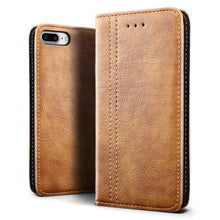 Load image into Gallery viewer, Best iPhone 8 Plus Retro Leather Case - Free Next Day Delivery