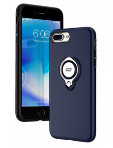 iPhone 8 Plus Blue Ring Holder Case