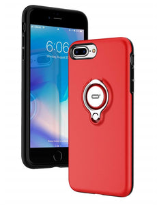 iPhone 8 Plus Red Ring Holder Case