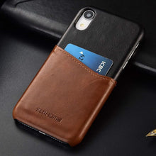 Load image into Gallery viewer, Best iPhone XR Card Leather Case - Free Next Day Delivery