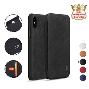 iPhone XR Black Luxury Wallet Case