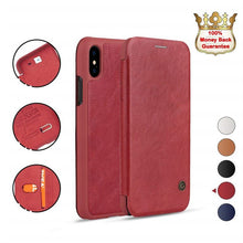 Load image into Gallery viewer, iPhone XR Red Luxury Wallet Case