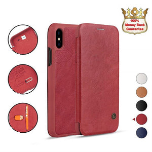 iPhone XR Red Luxury Wallet Case