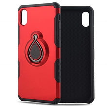 Load image into Gallery viewer, iPhone XR Red Metal Ring Holder Case