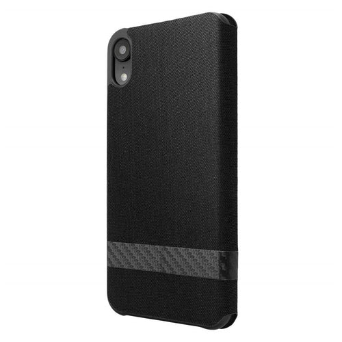 iPhone XR Black Texture Wallet Case